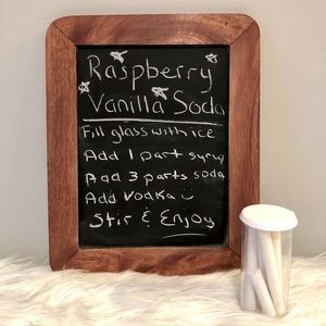 Fishs Eddy small chalkboard and chalk container